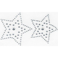 Iron-On Rhinestone Rhinestud Transfer - Two (2) Stars
