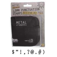 Punctuation Metal Punch Set with Storage Pouch x 1.5mm