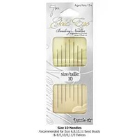 Dazzle-It Gold Eye Beading Needles - Size 10 - Pack Of 7