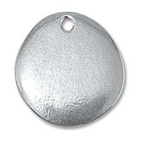 Metal Stamping Blank - 16ga Soft Strike Pewter River Stone With Hole x 19mm