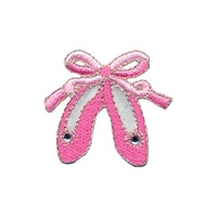 Wrights Simplicity Iron-On Applique Patch x Pink Dance Ballet Slippers