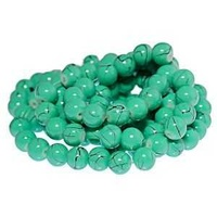 Glass Beads Round - Aqua Quartz 8mm x 10