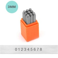Impressart Number Metal Punch Stamp Set - Basic Sans Serif x 3mm