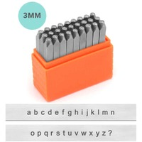 Impressart Alphabet Letter Metal Punch Stamp Set - Basic Sans Serif Lower Case x 3mm
