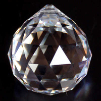 Crystal Sphere - Clear Crystal x 30mm *Factory Seconds*