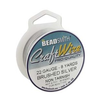 Craft Wire - Beadsmith Pro Quality Non Tarnish - Brushed Silver x 26Ga