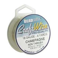Craft Wire - Beadsmith Pro Quality Non Tarnish - Champagne Gold x 18Ga