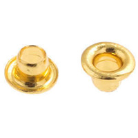 Eyelets Mini - For Leather Jewellery - 2.5mm Hole Gold x 50 Pieces