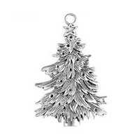 Metal Charm - Antique Silver Large Xmas Tree x 68mm