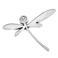Metal Charm - Antique Silver Large Dragonfly x 45mm
