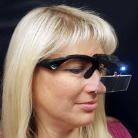 Magnifier With Five Lenses And Led Light