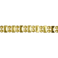 Metallic Plastic Facetted Rectangle and Round Trim - Gold x 9mm