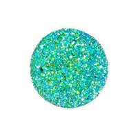 Sew-On Beads - Round Resin Sugar Stone Peacock Blue - Pack Of 10