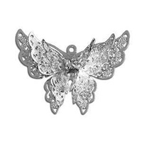 Petite Butterfly Enhanced Filigree Craft Charm - 25mm x 35mm