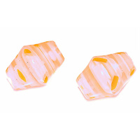 Tangerine Twist Vintage Glass Bead x 12mm