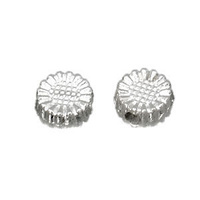 Tibetan Style Silver Metal Beads - Antique Silver Daisy Flower 5.5mm x 10