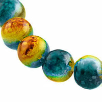 Glass Beads Round - Patina Glow 8mm x 20