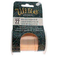 Beadsmith Craft Wire - Tarnish Resistant Rose Gold x 22ga