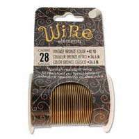 Beadsmith Craft Wire - Tarnish Resistant Vintage Bronze x 28ga