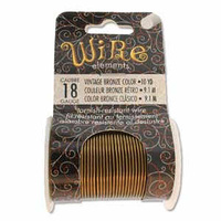 Beadsmith Craft Wire - Tarnish Resistant Vintage Bronze x 18ga