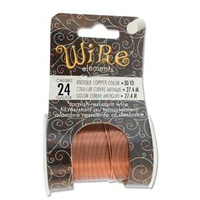 Beadsmith Craft Wire - Tarnish Resistant Antique Copper x 24ga