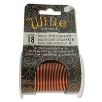 Beadsmith Craft Wire - Tarnish Resistant Antique Copper x 18ga