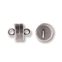 Magnetic Clasp - Antique Silver Plated x 7mm