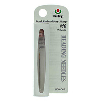 Tulip Beading Needles Size 10 Short - 4 in Vial for beading & embroidery