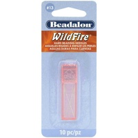 Beadalon Wildfire Hard Beading Needles - Size 13 x Pack of 10