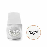 Impressart Metal Stamping Tool - Design Stamp ~ Heart With Wings x 6mm