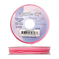 Dazzle-It Stretch Bead Cord - Pink 1mm x 5 metre roll