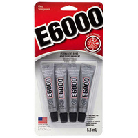 E6000 Industrial Strength Glue Adhesive - 4 Pack for Jewellery & Beading