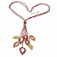 Miyuki Beading Craft Kit - Persian Red Leaves Necklace