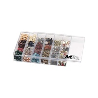 Artbin Bead Craft Organiser - Slide and Store with 24 Compartments