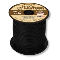 Faux Leather Lacing Cord - Black x 45 metres