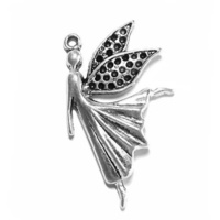 Metal Charm - Antique Silver Dancing Fairy x 40mm