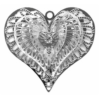 Heart Burst Filigree Craft Charm