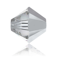 Swarovski Crystal Bicone Beads - Comet Argent Light 6mm x 10