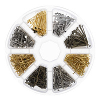 Jewellery Findings Kit - Assorted Head Pins in Storage Case x 1030 pieces