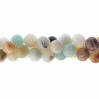 Semi-Precious Round Beads - Amazonite Natural x 6mm