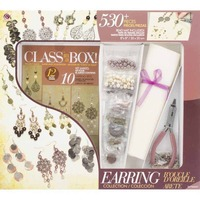 Jewellery Basics - Jewellery Class in a Box Kit - Gold and Copper Earrings