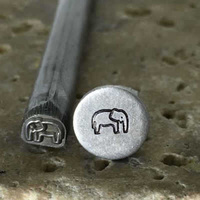 Metal Stamping Tool Specialty Steel Design Stamp - Elephant x 5mm