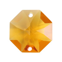 Swarovski Crystal Octagon - Light Topaz 2 Holes