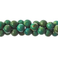 Semi-Precious Round Beads - Turquoise Green Dyed Stabilized x 6mm