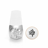 Impressart Metal Design Stamp - Leaf Tree x 6mm