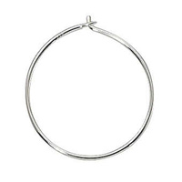 Beading Hoops - Sterling Silver 18mm x 1 Pair