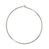 Beading Hoops - Sterling Silver 24mm x 1 Pair