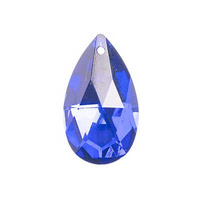 Crystal Lane Faceted Teardrop Pendant - Dark Blue x 38mm
