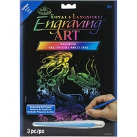 Rainbow Foil Engraving Art Craft Kit - Mermaid