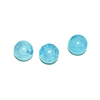 Summer Sky Blue Round Vintage Lucite Bead x 10mm